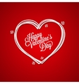 Valentines Day Vintage Lettering Card Background vector image vector image