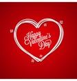 Valentines Day Vintage Lettering Card Background vector image