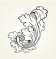 vintage tattoo floral ornament vector image vector image