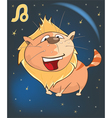 Zodiac Signs Leo Cartoon Character vector image vector image