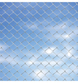Wire Fence Against Sky2 vector image