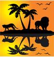 african landscape reflection vector image