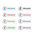Information buttons vector image