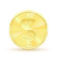 us dollar golden coin vector image