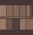 abstract art deco pattern set background vector image vector image