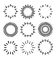 abstract line arrow star dotted round frame set vector image vector image