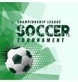 abstract soccer tournament background in grunge vector image vector image