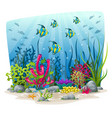 an underwater landscape with animals and plants vector image vector image