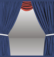 background with decorative curtains polygonal vector image