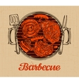 bbq party barbecue template menu design vector image