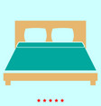 bed it is icon vector image