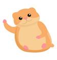 big hamster icon cartoon style vector image vector image