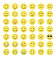 Big set of smilies vector image vector image