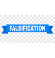 blue tape with falsification title vector image vector image