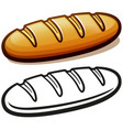 bread loaf cartoon isolated vector image vector image