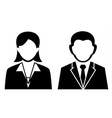 business man and women icon vector image