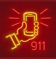 call emergency telephone vector image
