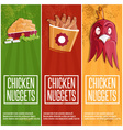 chicken time fast food banners vector image