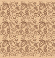 chocolate sweets signs seamless pattern background vector image