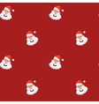 Christmas design element Jolly Santa Claus pattern vector image