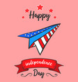 colorful independence day greeting card vector image vector image