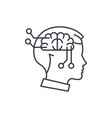 computer thinking line icon concept computer vector image