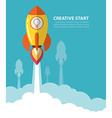 creative start vector image
