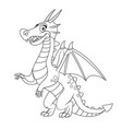 cute cartoon dragon outlines for coloring vector image