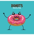 delicious donut comic character vector image vector image