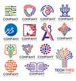 digital electronics set logo design vector image