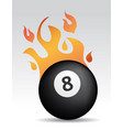 fire eight ball vector image vector image