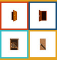 flat icon approach set of entry entrance saloon vector image vector image