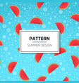 fruity seamless pattern with watercolor vector image