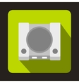 Game console icon flat style vector image