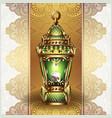 golden vintage lantern vector image
