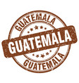 guatemala brown grunge round vintage rubber stamp vector image vector image
