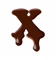 Letter X from latin alphabet made of chocolate vector image