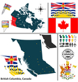 Map of British Columbia vector image