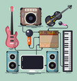 musical instruments cables and devices flat vector image vector image