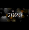 new year 2020 abstract dark bokeh vector image