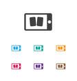 of casino symbol on smartphone vector image vector image