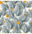 palm leaves seamless orange round white background vector image vector image