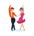 passionate dance cha-cha in interesting setting vector image vector image