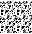pattern of lemon branch tree with flowers vector image vector image