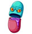 pill or medicine cartoon character vector image vector image