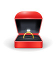 realistic detailed 3d gold ring box vector image vector image