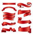 ribbons banners set and tape vector image vector image