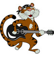 rock star tiger vector image