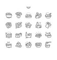 salads well-crafted pixel perfect thin line vector image