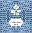 seamless pattern with frame and flowers vector image vector image